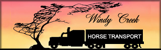 WINDY CREEK HORSE TRANSPORT - Based in New Mexico - supplying safe, careful horse transport, nation-wide.  Our courteous, professional drivers are experienced horsemen dedicated to transporting your horse with care and attention. Coast to coast, we care the most!